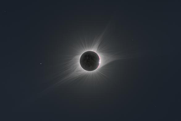 Zatmění 21. sprna 2017 končí... Autor: Petr Horálek, Miloslav Druckmüller, Solar Wind Sherpas.