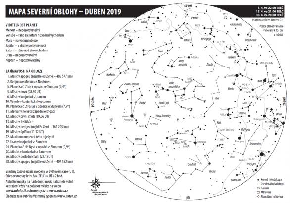 Obloha v březnu 2019 Autor: Aleš Majer