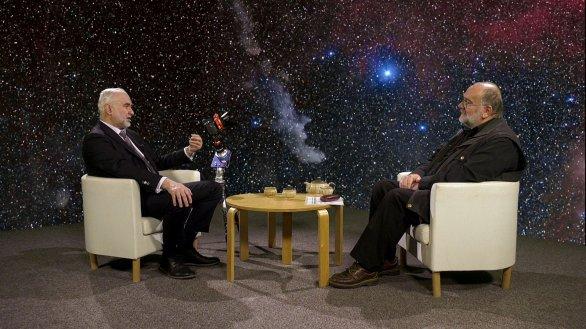 Zdeněk Bardon a Jindřich Suchánek v pořadu Hlubinami vesmíru Autor: TV Noe
