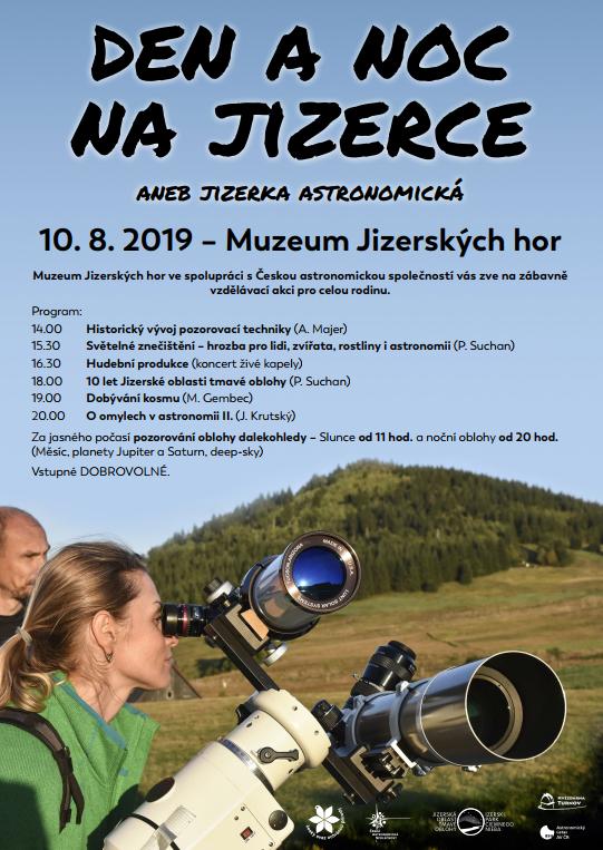 Den a noc na JIzerce 2019 Autor: Klub astronomů Liberecka
