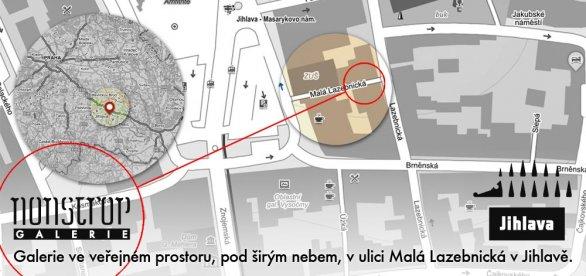 Pozvánka do Galerie Nonstrop v Jihlavě