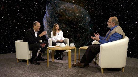 Manželé Kubátovi s Jindřichem Suchánkem v pořadu Hlubinami vesmíru Autor: TV Noe