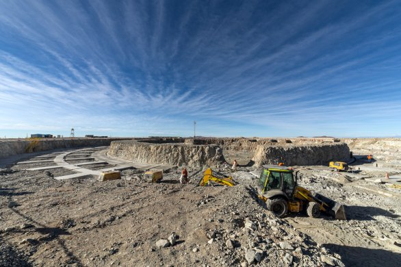 Základy pro budovu největšího dalekohledu světa na Cerro Armazones. Autor: Petr Horálek/ESO.
