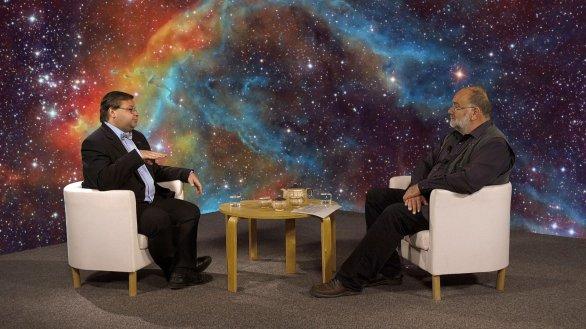 Jakub Rozehnal s moderátorem pořadu Hlubinami vesmíru JIndřichem Suchánkem Autor: TV Noe