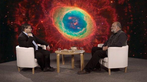 Jakub Rozehnal hovoří s Jindřichem Suchánkem v pořadu Hlubinami vesmíru Autor: TV Noe