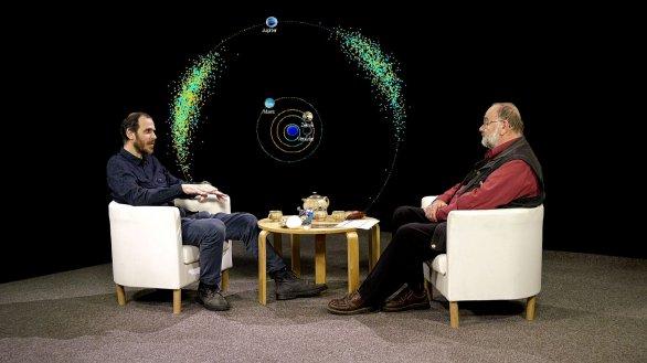 Petr Scheirich a Jindřich Suchánek v pořadu Hlubinami vesmíru Autor: TV Noe