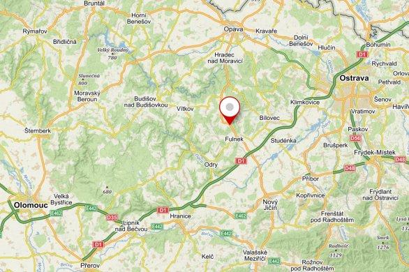 Místo konání Astronomické expedice 2020 Autor: www.mapy.cz