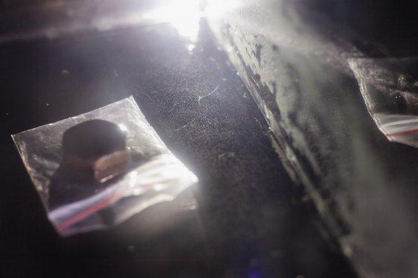 Stopa částice zaznamenané pomocí mlžné komory. Autor: Lukáš Havlák