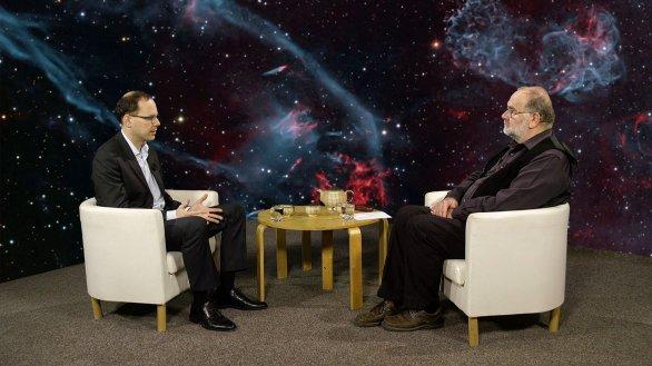 Ondřej Pejcha a moderátor pořadu Hlubinami vesmíru Jindřich Suchánek Autor: TV Noe