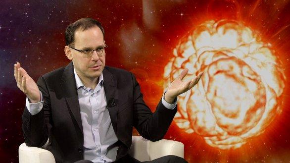 Mgr. Ondřej Pejcha, PhD. v pořadu Hlubinami vesmíru Autor: TV Noe
