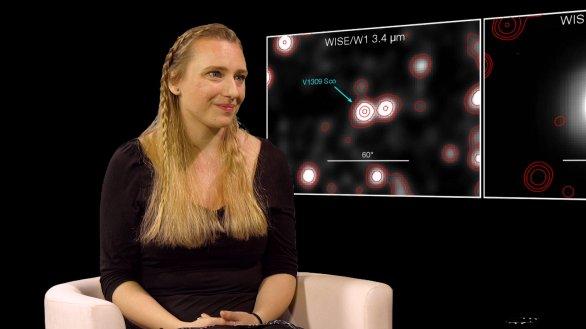 Mgr. Kateřina Hoňková v pořadu Hlubinami vesmíru Autor: TV Noe