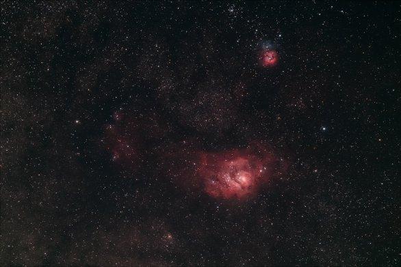 Mlhoviny M8 Laguna a M20 Trifid Autor: Kamil Karlovský