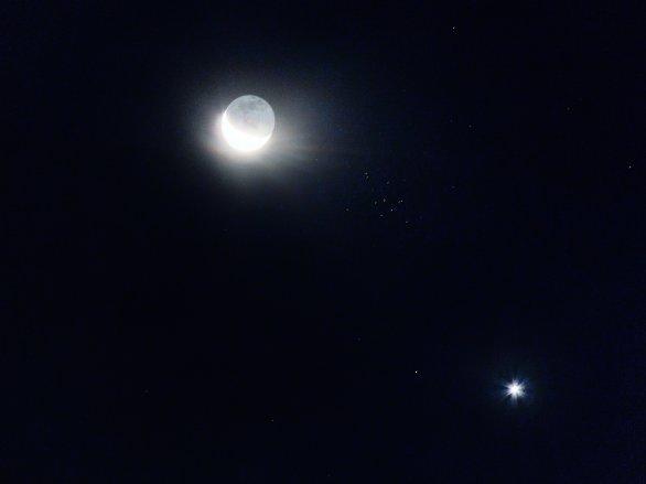 Měsíc, Venuše, hvězdokupa Jesličky Autor: Petr Lívanec