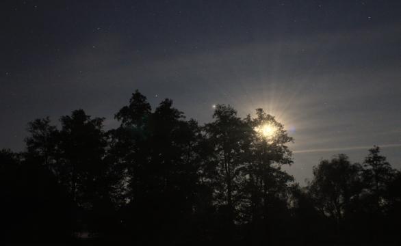Měsíc a planety Autor: Antonín Hušek