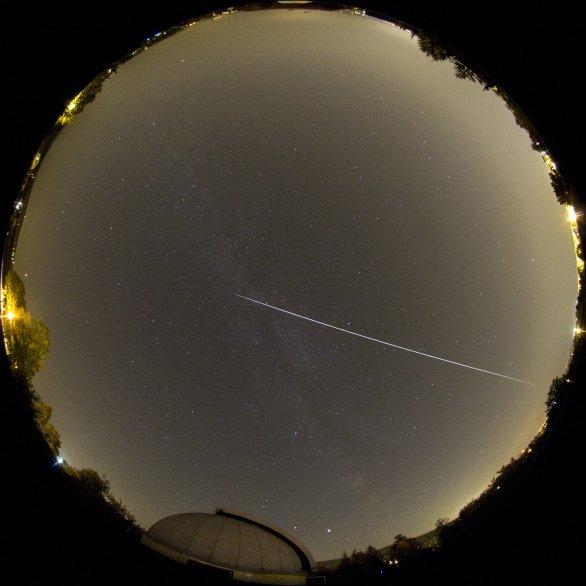 Přelet ISS 21. 9. 2020 celooblohovkou z hvězdárny v Turnově Autor: Martin Gembec