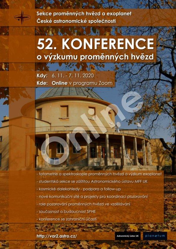 52. konference o výzkumu proměnných hvězd Autor: Sekce proměnných hvězd