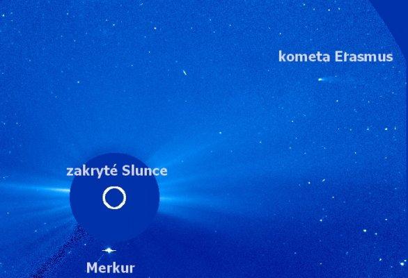 Kometa C/2020 S3 (Erasmus) 20. 12. 2020 v koronografu SOHO