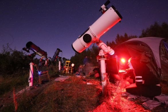 Astronomický tábor Jihlavské astronomické společnosti Autor: Jihlavská astronomická společnost