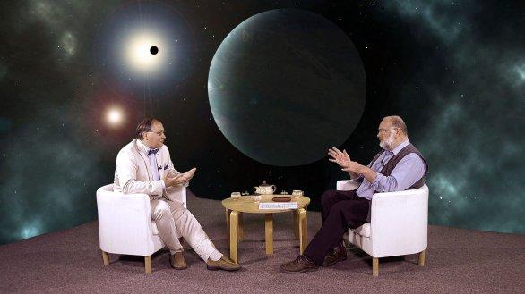 Vladimír Kopecký Jr. a moderátor Jindřich Suchánek v pořadu Hlubinami vesmíru Autor: TV Noe
