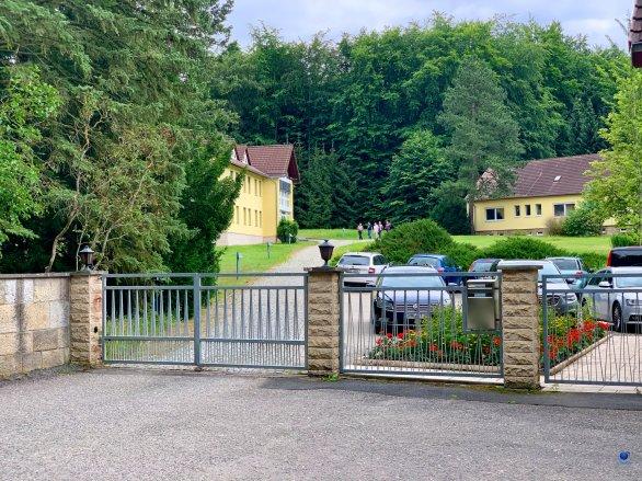 Vstup do areálu observatoře Tautenburg Autor: Zdeněk Bardon