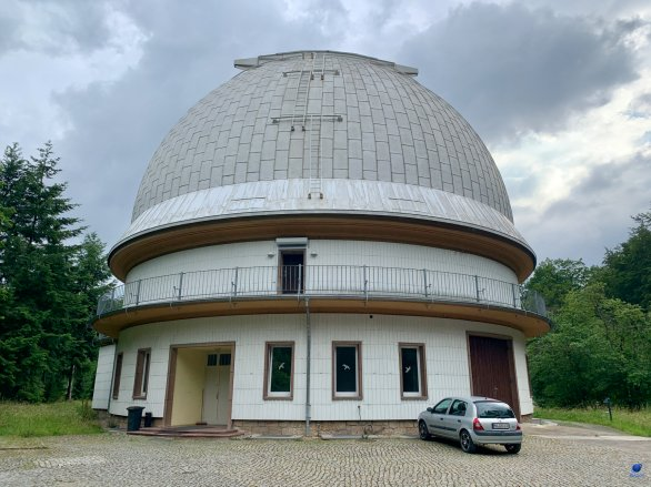 Kopule dalekohledu Alfred Jensch. Observatoř Tautenburg, Německo. Autor: Zdeněk Bardon