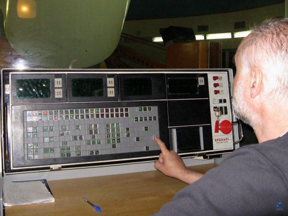 Původní řídící systém dvoumetrového dalekohledu observatoře Rozhen Autor: Zdeněk Bardon