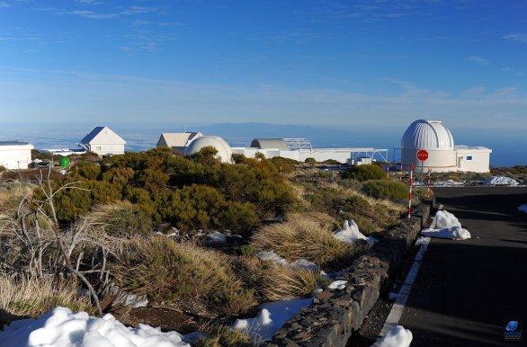 Část observatoře Teide na ostrově Tenerife, ale pohledem od OGS. Autor: Zdeněk Bardon