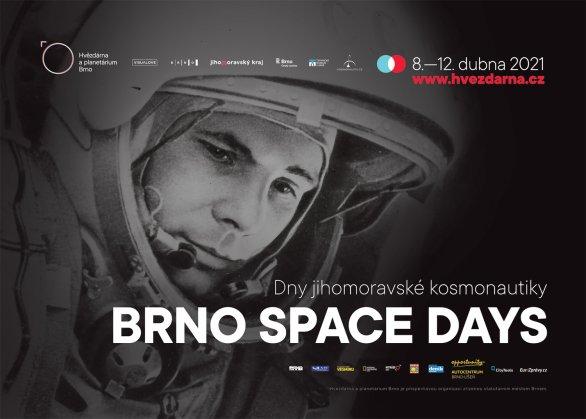 Plakát akce Brno Space Days, Dnů jihomoravské kosmonautiky Autor: Hvězdárna a planetárium Brno