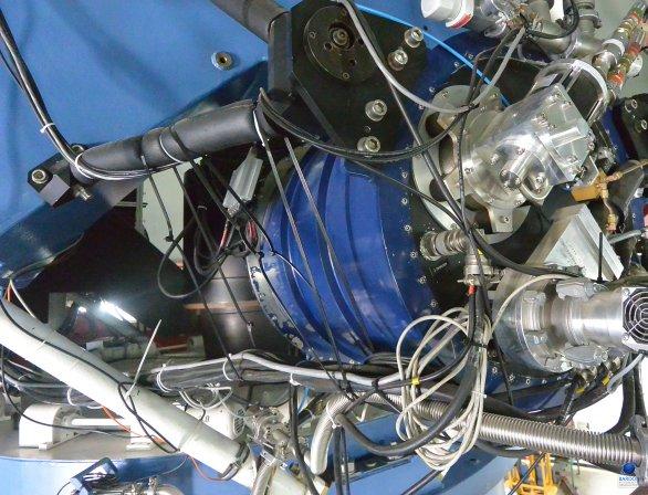 Instalace kamery GROND na dalekohledu MPG. ESO, La Silla, Chile Autor: Zdeněk Bardon