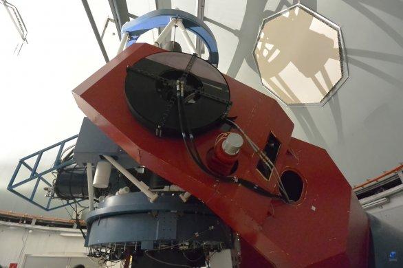 Vidlicová paralaktická montáž a dalekohled 2,2 m MPG, ESO, La Silla, Chile Autor: Zdeněk Bardon