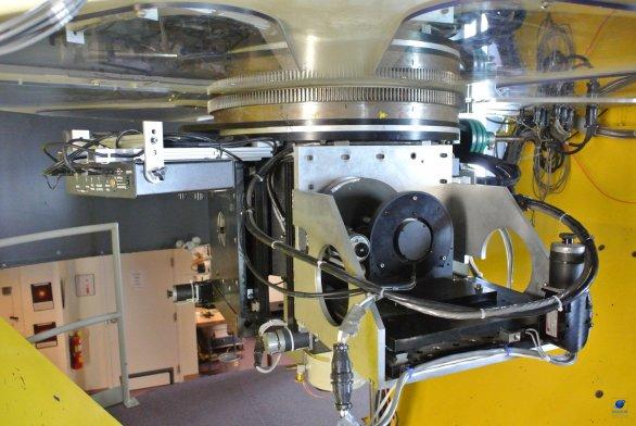 Derotátor a přístrojová část dalekohledu VATT. Mt. Graham, Arizona, USA Autor: Zdeněk Bardon