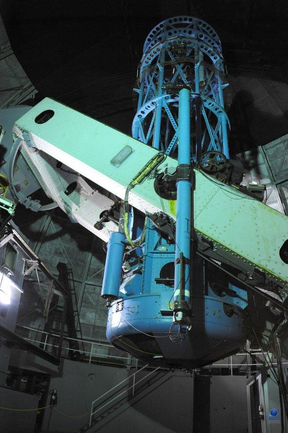 Slavný 100-palcový Hookerův dalekohled. Mt. Wilson, Kalifornie, USA Autor: Zdeněk Bardon