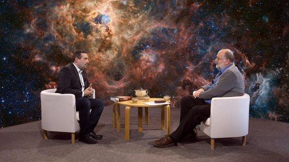RNDr. Martin Ferus a Jindřich Suchánek, moderátor pořadu Hlubinami vesmíru Autor: TV Noe
