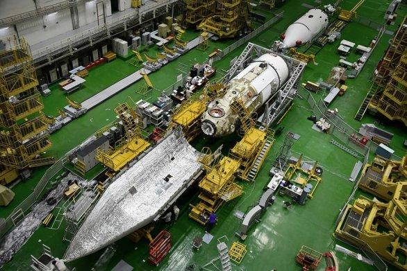 Modul MLM-U Nauka v červnu 2021 v přípravné hale Autor: RKK Energia