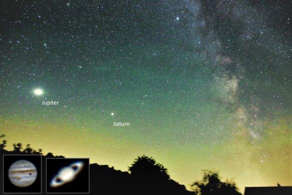 Jupiter a Saturn na letnej oblohe Autor: Tadeáš Valent
