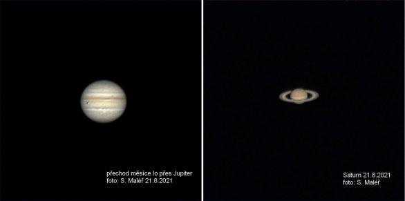 Jupiter a Saturn 21.8.2021 Autor: Stanislav Maléř