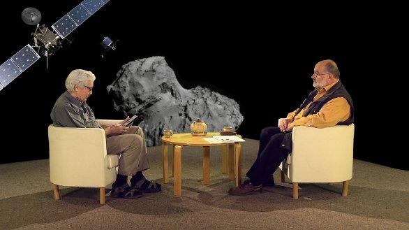 Jiří Grygar si povídá s Jinřichem Suchánkem v pořadu Hlubinami vesmíru o novinkách z roku 2020 Autor: TV Noe