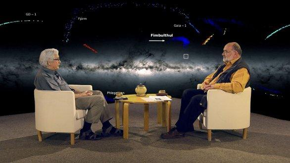 Jiří Grygar (vlevo) a moderátor pořadu Hlubinami vesmíru Jinřich Suchánek Autor: TV Noe