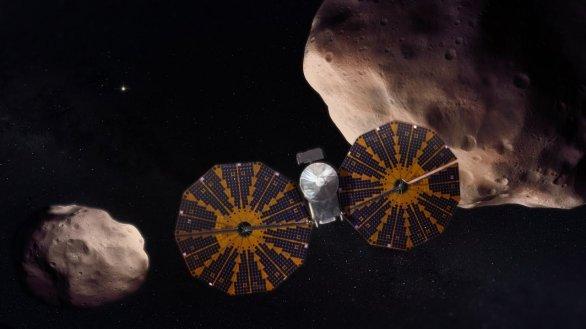 Lucy, sonda zkoumající planetky na dráze Jupiteru (Trójany) Autor: NASA