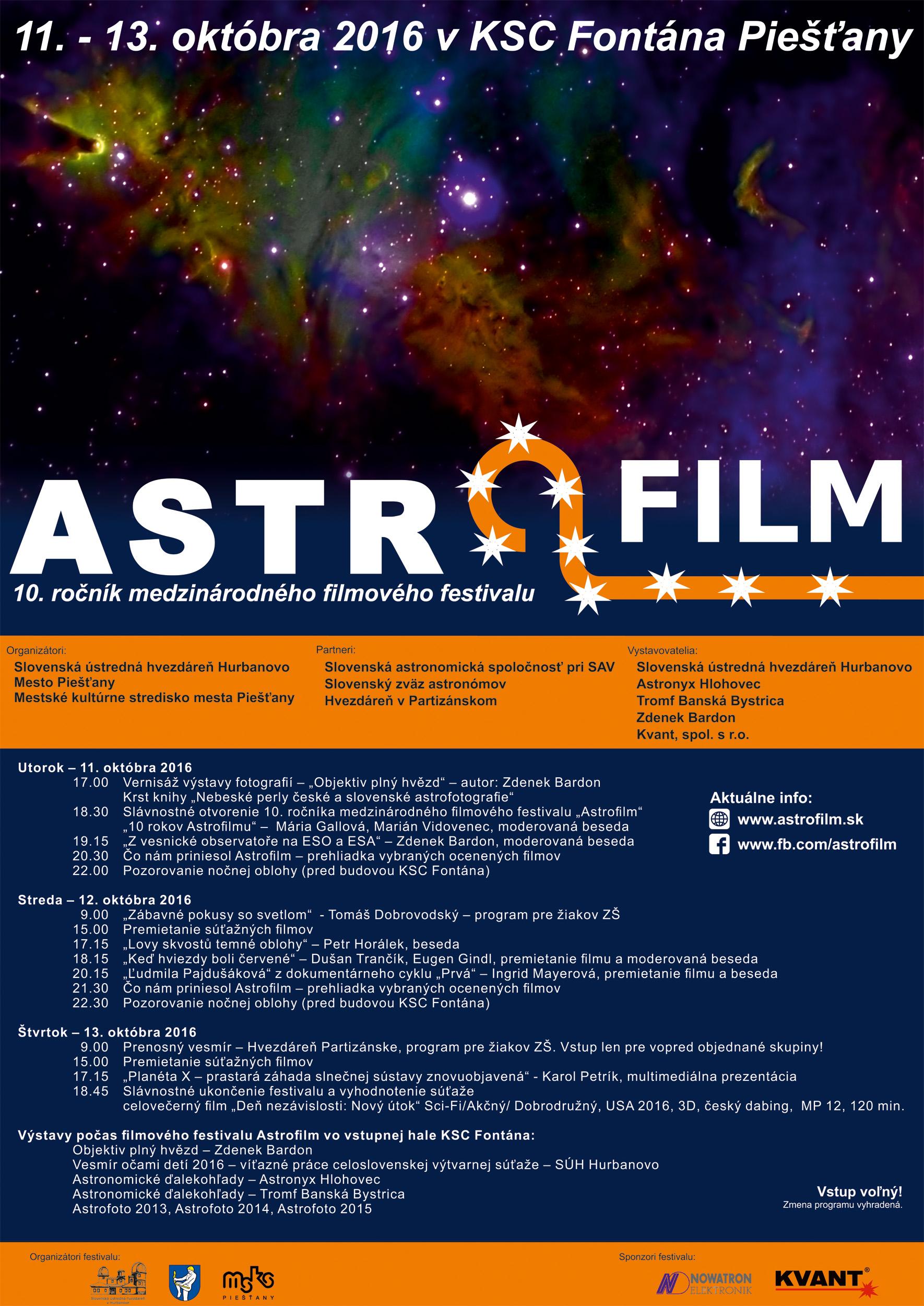 e9152eb572 Nezmeškajte festival Astrofilm v Piešťanoch!