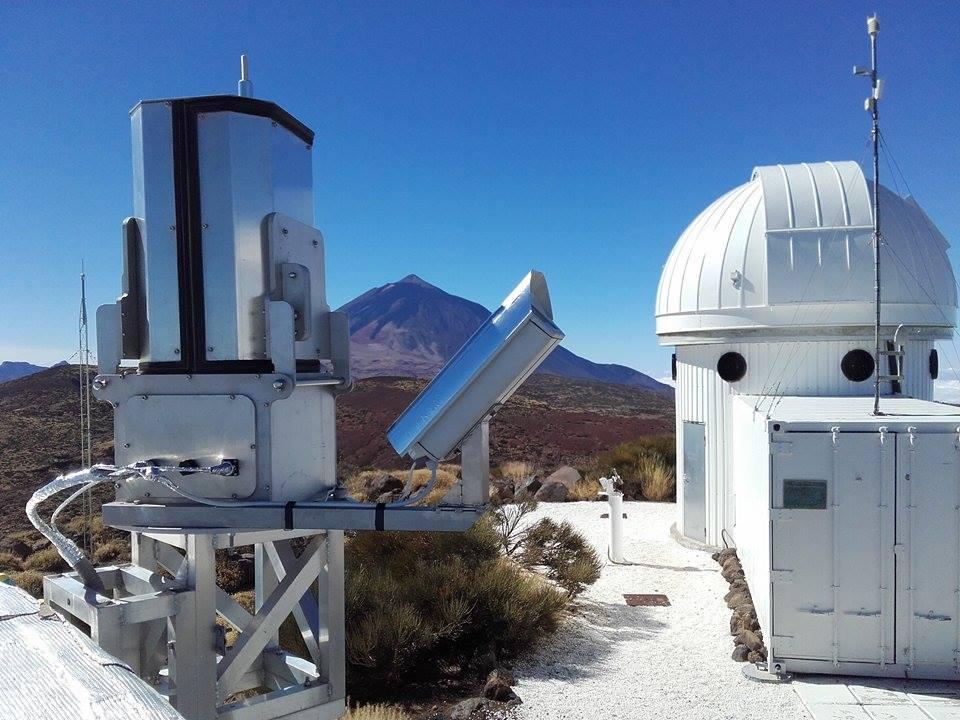 Spektrograf na observatoři Teide (Tenerife). Autor: AGO Modra