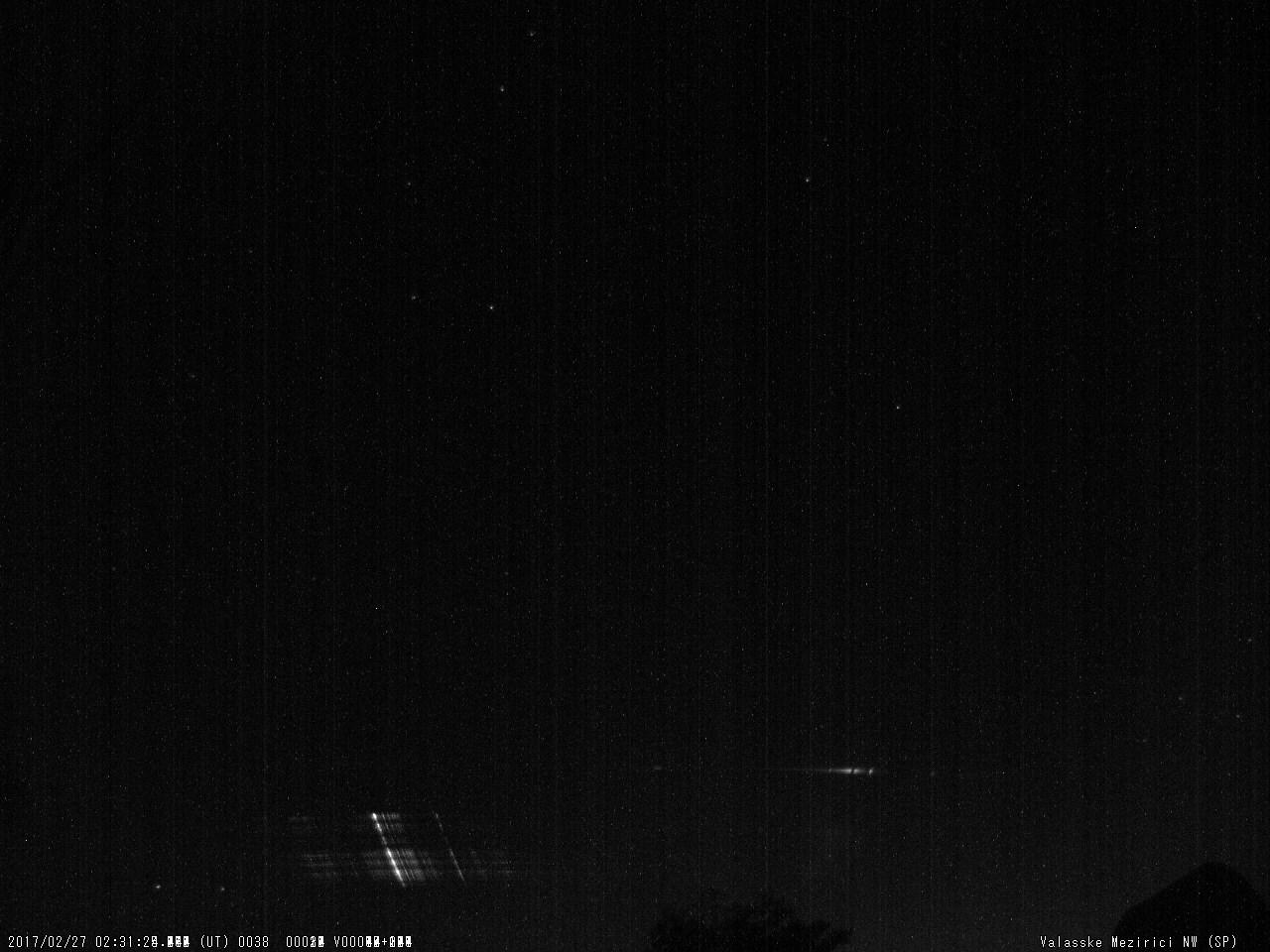 Obr. 10: Spektrum jasného meteoru 20170227_023124, spektrograf SPNW. Autor: Hvězdárna Valašské Meziříčí