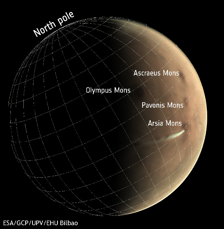 the european mars express probe observed a picturesque cloud of